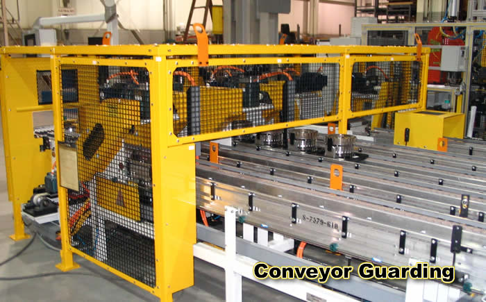 Fork Lift Guarding : Weld wire expanded steel mesh screen osha machine robot
