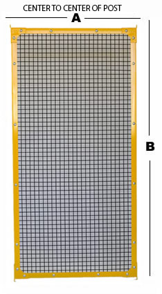 1x1 Panel showing dimensions