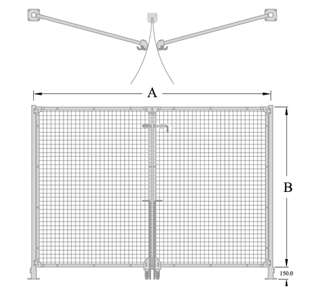 Total Access Drop Pin Closure Hinge Gate Diagram