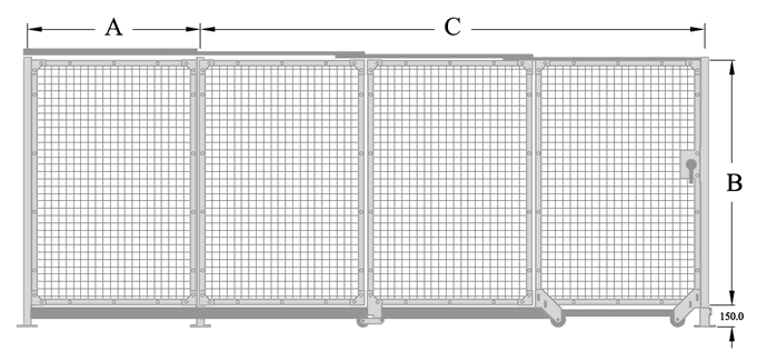 LH Total Access Triple Slide Gate