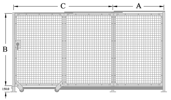 RH Total Access Double Slide Gate